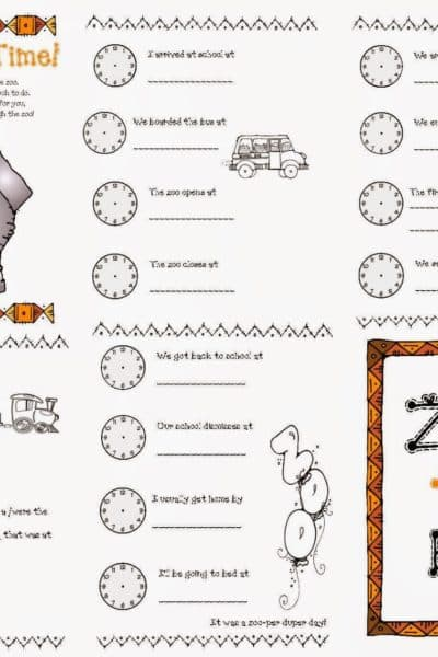 Zoo Time Easy Reader Booklet
