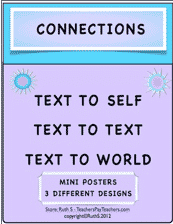 photo of Connections  Text to Self, Text to Text, Text to World, pdf, Ruth S. TeachersPayTeachers.com
