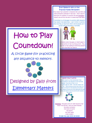 Fun Circle Game to Practice Any Sequence