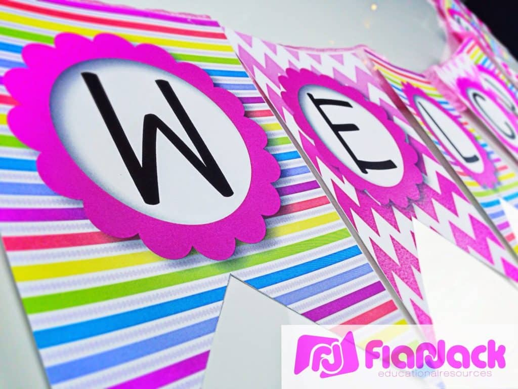 http://www.teacherspayteachers.com/Product/NEON-Bilingual-Welcome-Banner-FREEBIE-In-Spanish-too-1303135