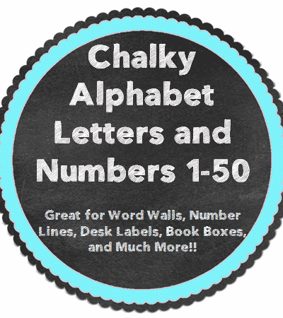 Chalky, Bright Alphabet Letter and Numbers Decor