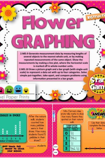 FREE Flower Graphing Smart Board Game