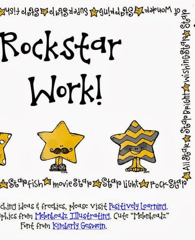 Rock Star Work!