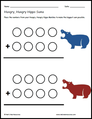 Hungry Hippo Sums
