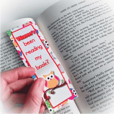 Free Owl Reading Bookmark