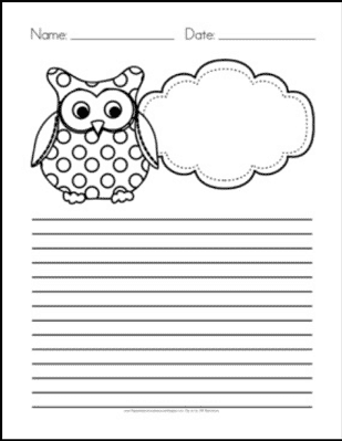 Owl Themed Writing Paper – FREE