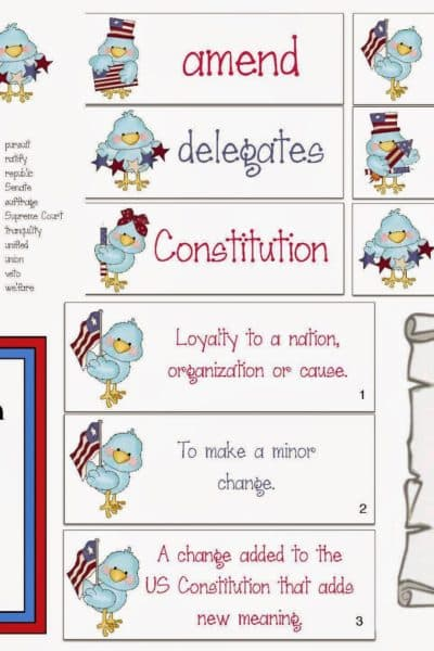 Constitution Day Word Work Packet