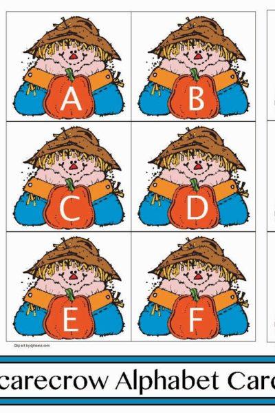 Scarecrow-Themed Alphabet Cards
