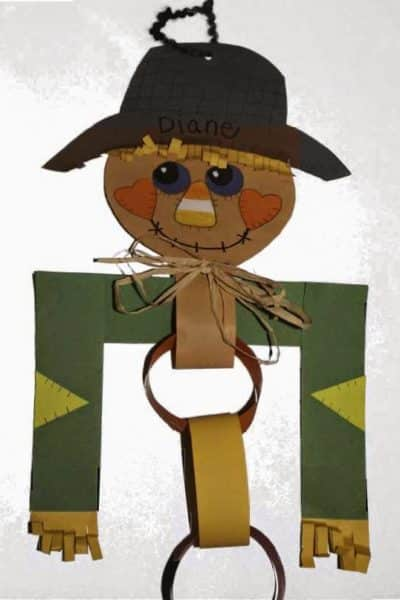 Scarecrow Paper Chain Craft