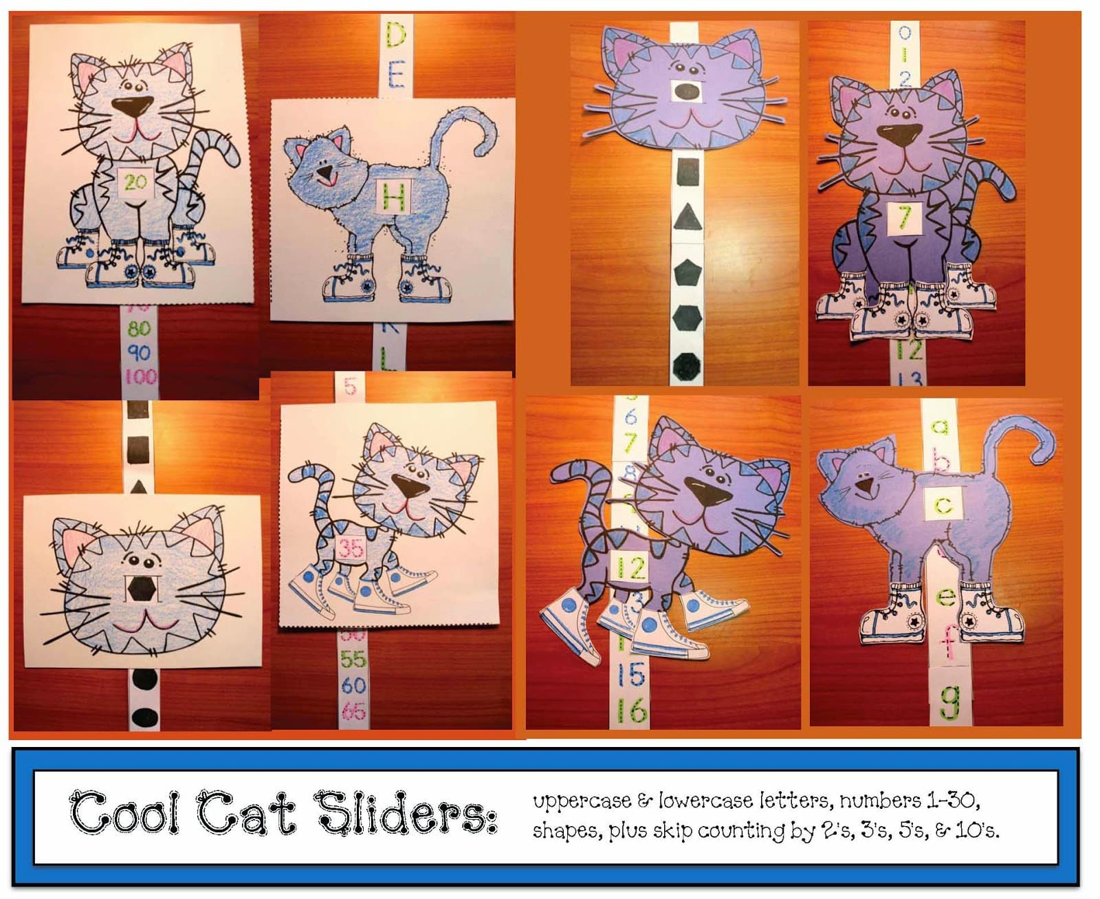 Cool Cat Sliders Classroom Freebies