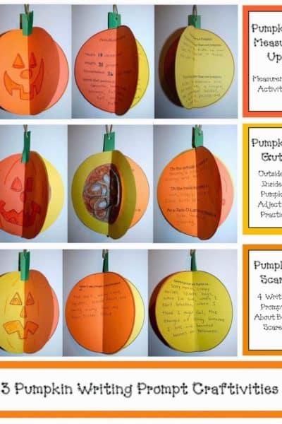 3D Pumpkin Writing Prompt Craftivities