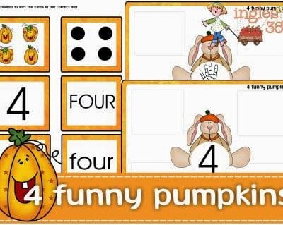 4 funny pumpkins