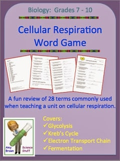 Cellular Respiration Word Game