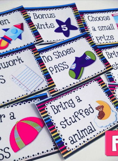 FREE SPACE Positive Behavior Reward Coupons