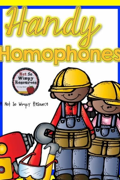 A Great Center Activity: Handy Homophones