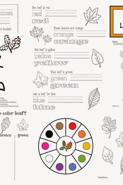 Colorful Fall Leaves Packet