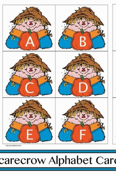 Scarecrow Alphabet Cards and Games