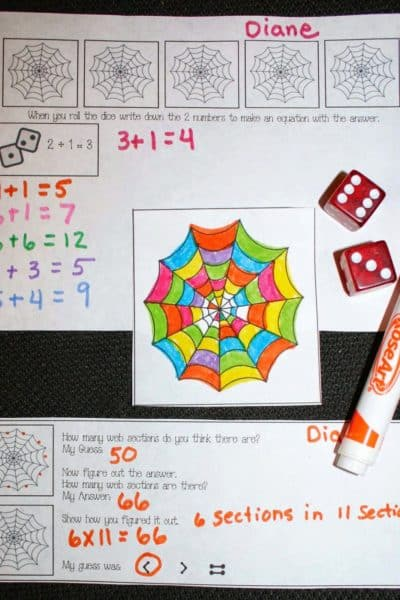 Spin A Web Math Game
