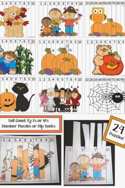 2 Dozen Number Puzzles For Fall