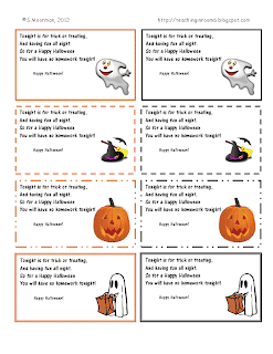 HW Passes for Halloween
