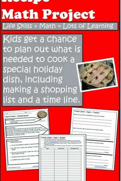 Holiday Recipe Math Project from Raki's Rad Resources