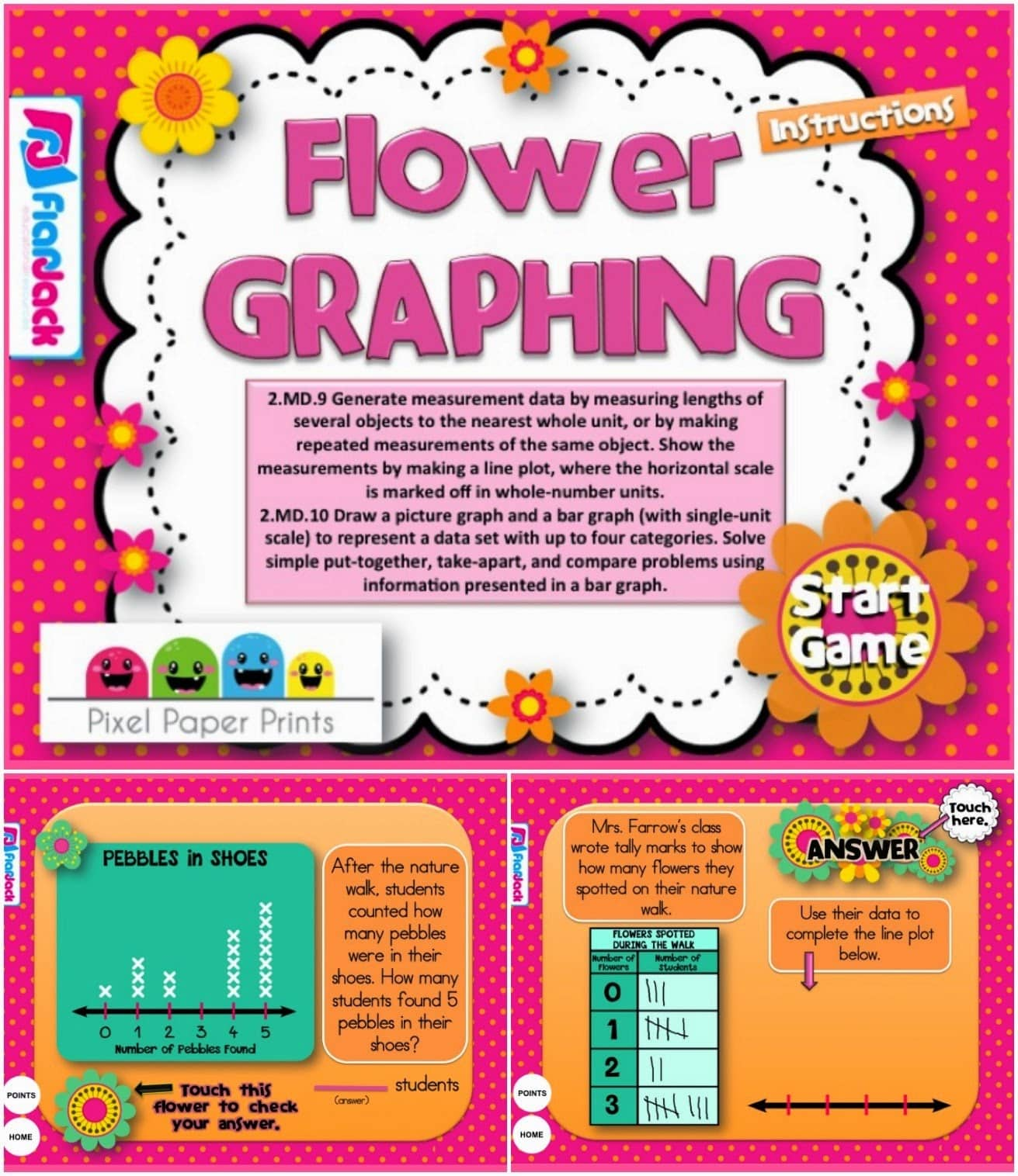 FREE Flower Graphing Smart Board Game - Classroom Freebies