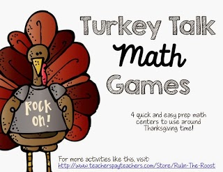 Thanksgiving Turkey Themed math centers!