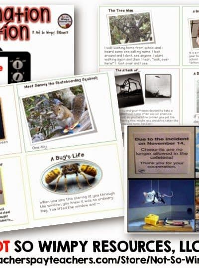 Imagination Station: Writing Picture Prompts (Not So Wimpy Resources)