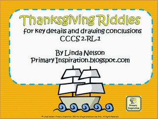 http://primaryinspiration.blogspot.com/2012/11/thanksgiving-riddles-freebie.html