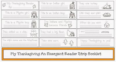 Thanksgiving Emergent Reader Strip Booklet