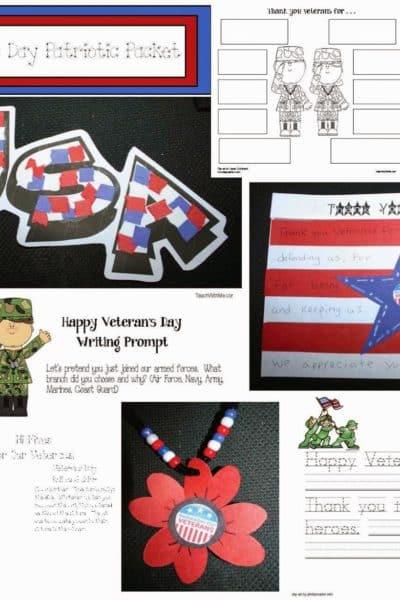 Veteran's Day Craftivities Packet