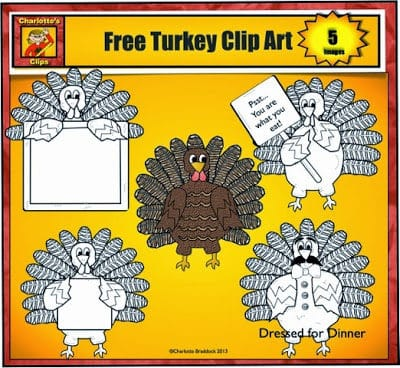 Do you need some Free Turkey Clip Art for Thanksgiving?