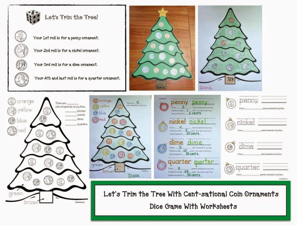 Let\'s Trim The Tree Cent-sationally! - Classroom Freebies