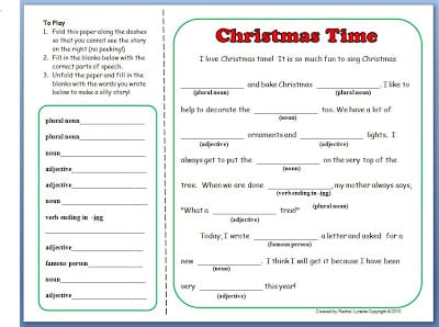 have some silly fun with this grammar activity christmas mad lib the best part is kids can play in pairs groups or individually - Christmas Mad Libs For Adults