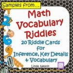 A Fun Way to Practice Math Vocabulary