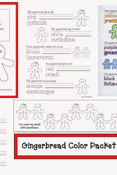 Gingerbread Color Games & Activitries Packet