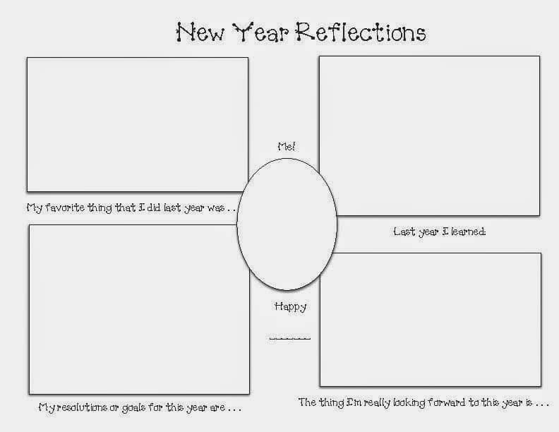 New Year Reflections Graphic Organizer Writing Prompt - Classroom ...
