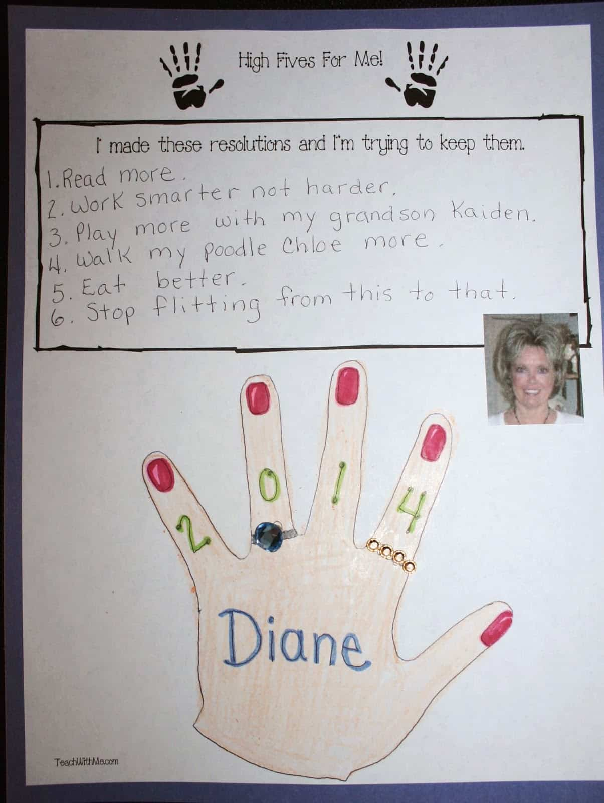 High Fives For A Great New Year Writing Prompt Craft