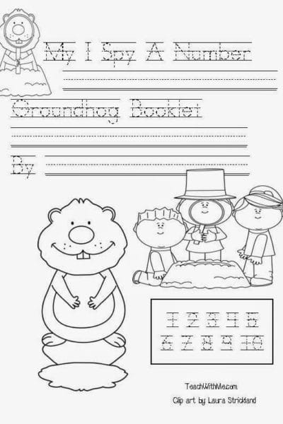 Common Core Groundhog Emergent Reader Counting Booklet