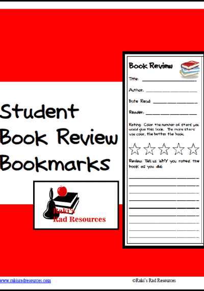 Book Review Bookmarks from Raki's Rad Resources