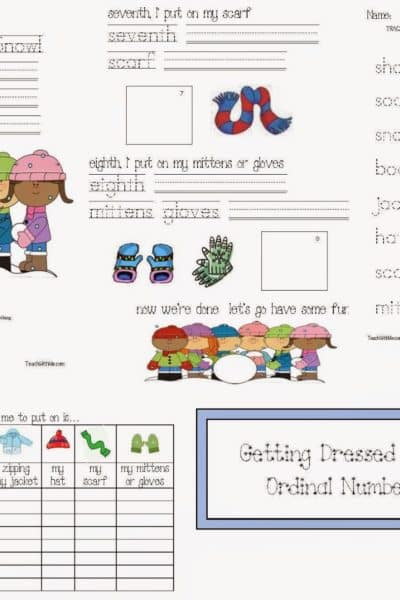 Let's Go! Let's Play in the Snow! emergent reader packet