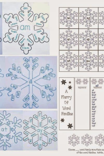 Snowflake Word Famiies Packet