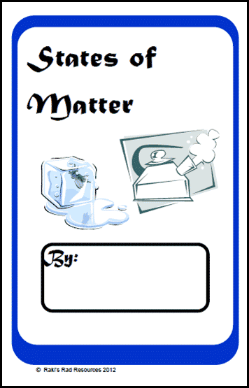 States of Matter Booklet from Raki's Rad Resources