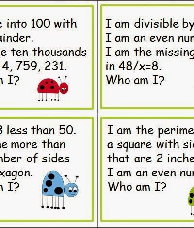 Number Riddles for Spiraled Review