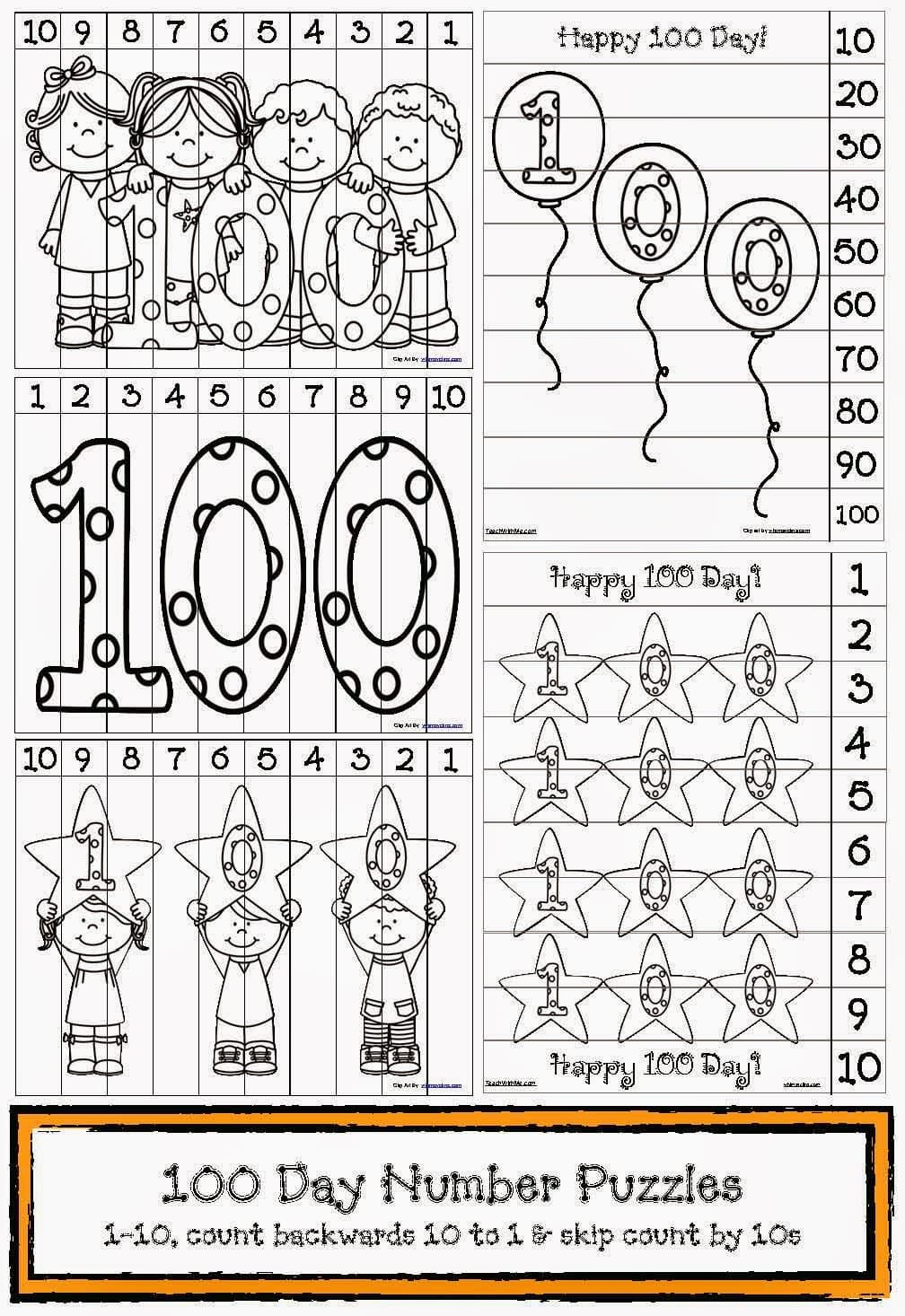 100th Day of School Activities including bookmarks, t-shirt tips, lesson plan ideas, and more!  #100thday #kindergarten
