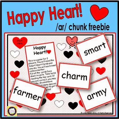 Happy Heart /ar/ Chunk Game - Classroom Freebies