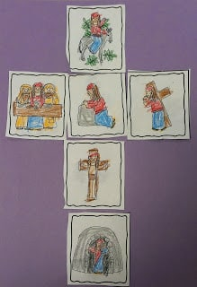 Holy Week Sequencing cards and craft