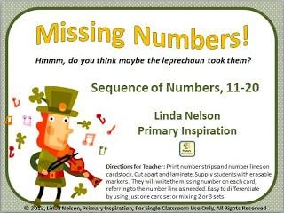 Leprechaun Math – Missing Numbers!