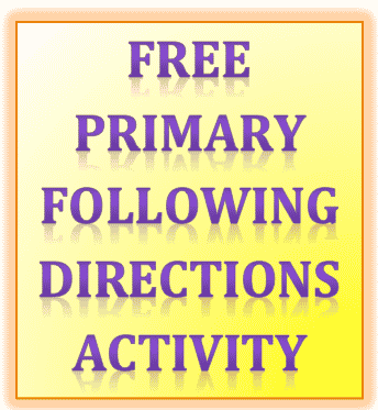 Free Elementary Following Directions Activities