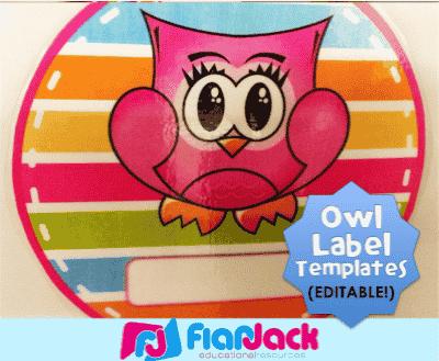 Hanging Editable Owl Circle Templates Freebie
